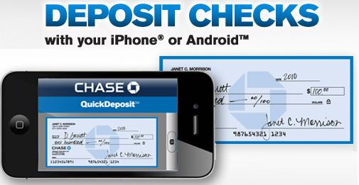 Chase App Lets you Deposit Checks via Mobile